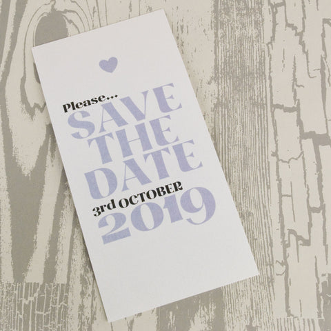 'Wordie' Wedding Save The Date Postcard