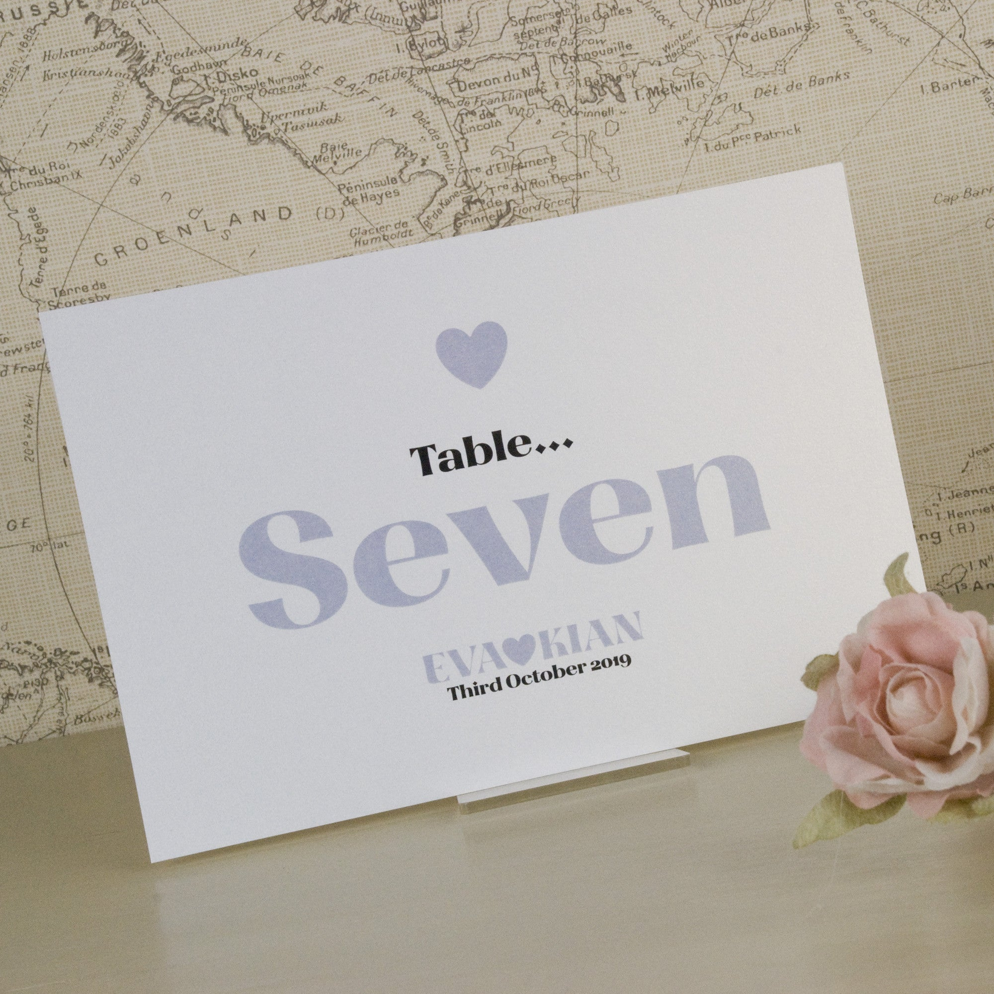 Wordie Table Name Cards