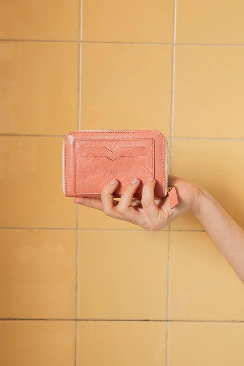 MARIANA zipped-wallet in PINK