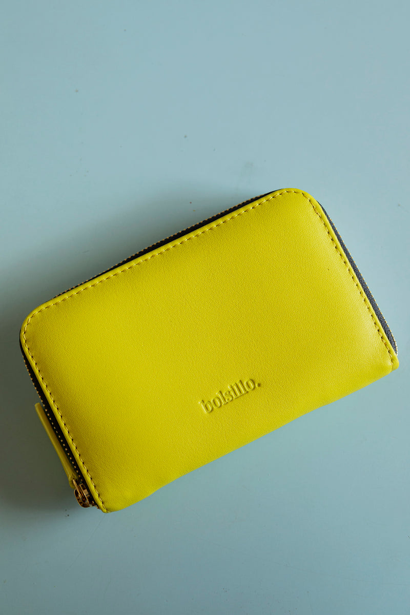 MARIANA zipped-wallet in YELLOW