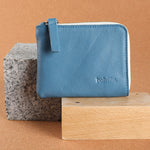 LEO zipped-wallet BLUE nappa
