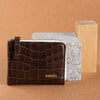 LEO zipped-wallet BROWN croc