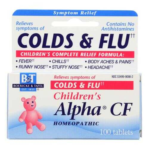 Boericke and Tafel - Children's Alpha CF - 100 Tablets