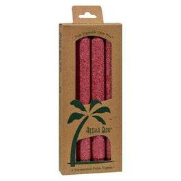 Aloha Bay - Palm Tapers - Burgundy - 4 Candles