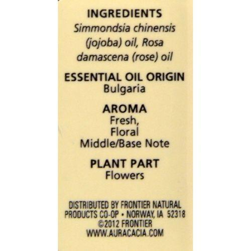 Aura Cacia - Rose Otto in Jojoba Oil - 0.5 fl oz