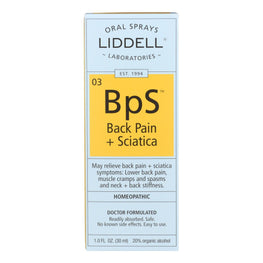 Liddell Homeopathic Back Pain Sciatica - 1 fl oz