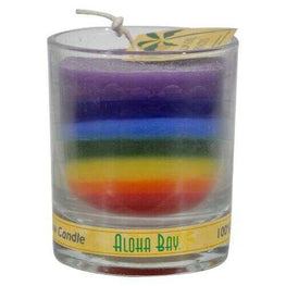 Aloha Bay - Votive Jar Candle - Unscented Rainbow - Case of 12 - 2.5 oz