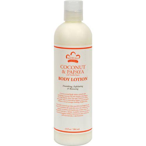 Nubian Heritage Lotion - Coconut and Papaya - 13 oz