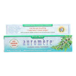 Auromere Toothpaste - Fresh Mint - Case of 1 - 4.16 oz.