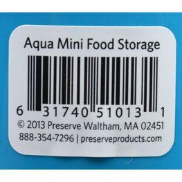 Preserve Food Storage Container - Round - Mini - .Aqua - 8 oz - 1 Count - Case of 12