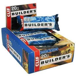 Clif Bar Cookies N Cream Builder Bar (12x2.4 Oz)