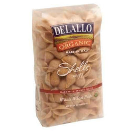 De Lallo Organic Whole Wheat Shells (16x16Oz)