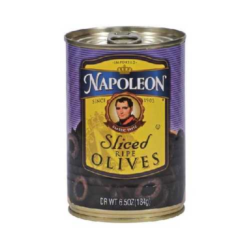 Napoleon Co. Sliced Black Olives (12x6.5OZ )