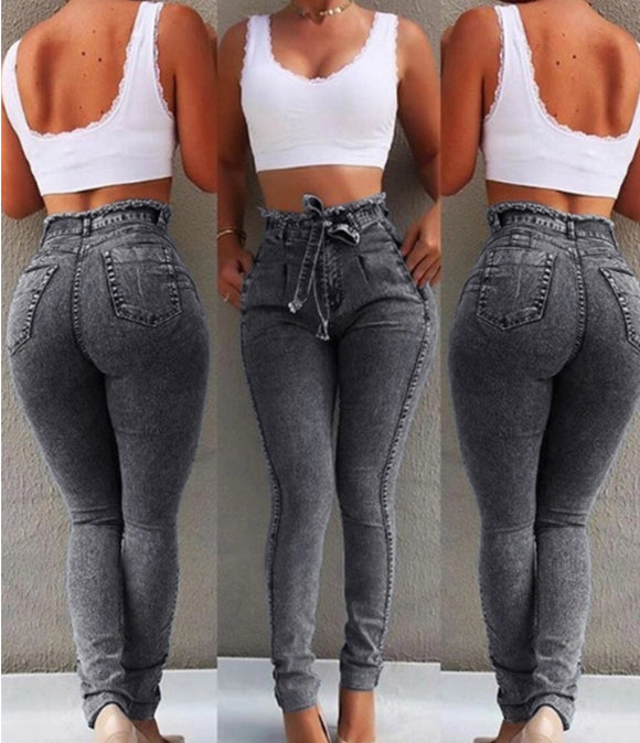 Dark gray fitted pants