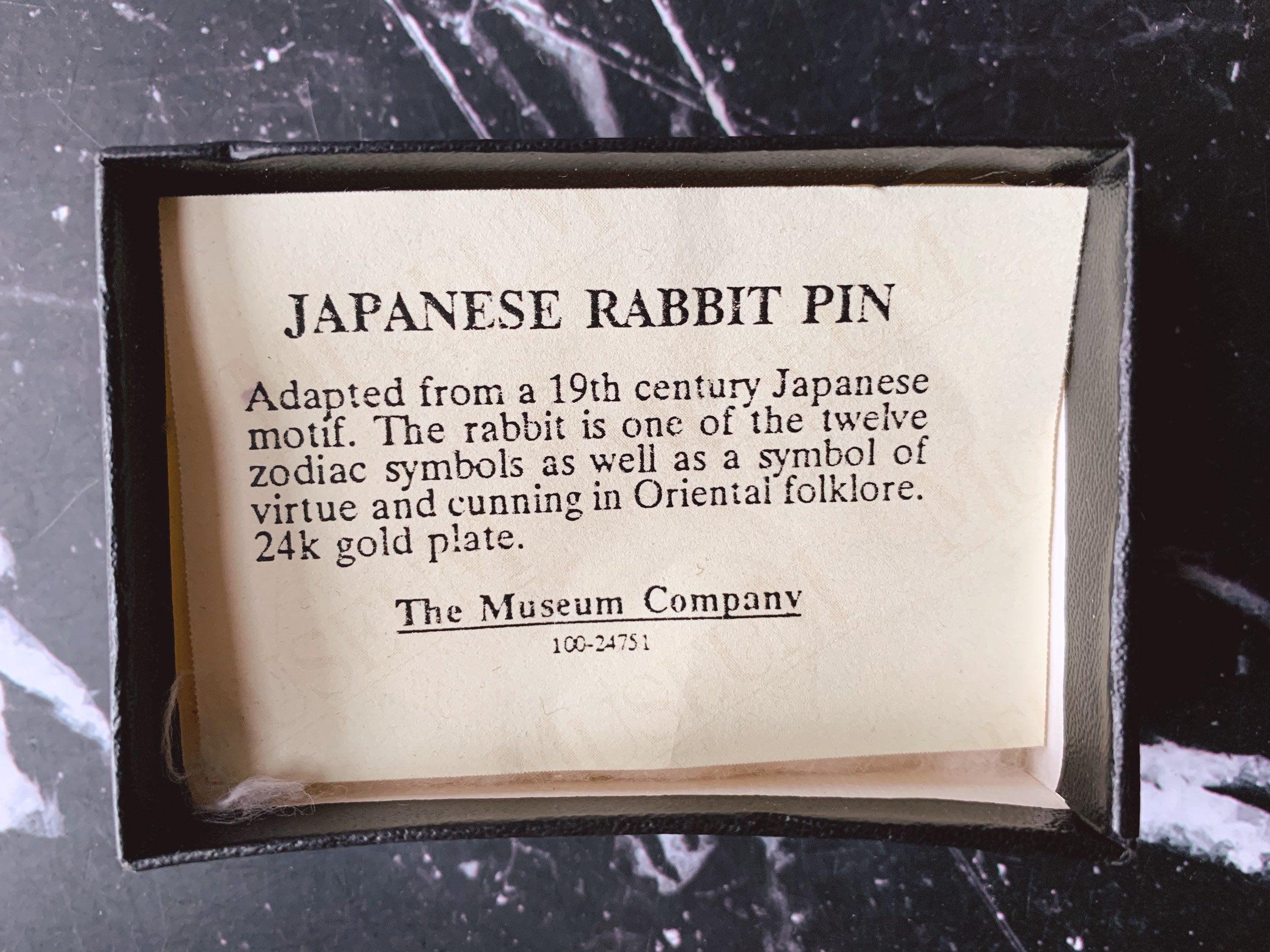 Vintage Museum Company 24k Gold Plate Japanese Rabbit Brooch | Decorative Lapel Pins