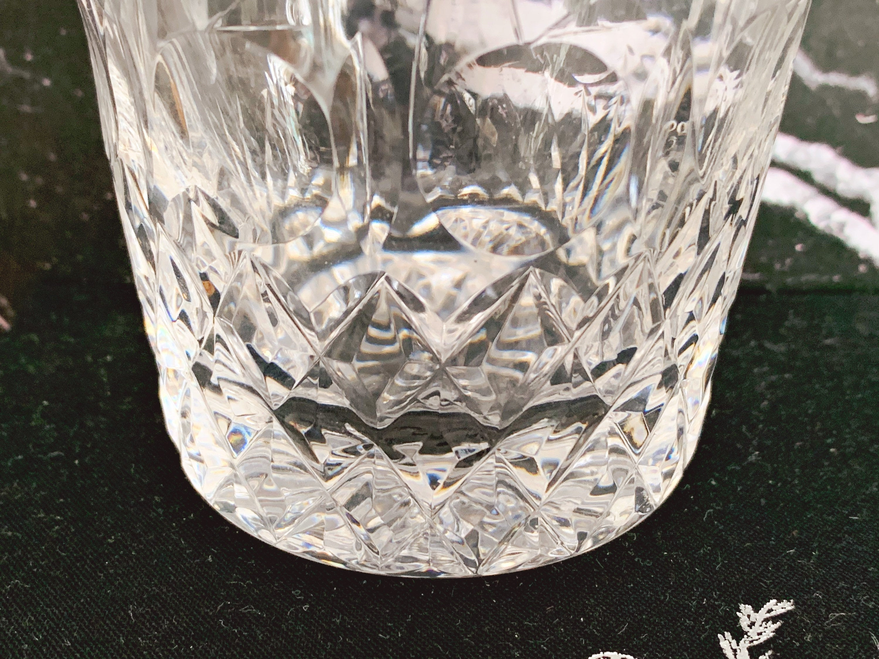 Vintage Rogaska Crystal Double Old Fashioned Glasses in Gallia Pattern | Etched Whisky Rocks Glasses Barware | Set of 2, 4 or 6