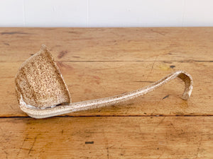 Vintage Hand Thrown Stoneware Ceramic Ladle | Studio Pottery Serving Spoon