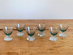Vintage Aseda Sweden Crystal Cordial Decanter Set with 6 Glasses in Smokey Grey | Hand Blown Port Wine Dessert Wine Glasses