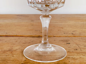 Vintage Clear Crystal Wine Goblets, Water Goblets or Juice Glasses | Set of 2 or 4