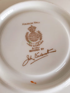 "Vintage Minton ""Hadden Hall"" Bone China Floral Tea Cup Saucer Signed by John Wadsworth B1451"