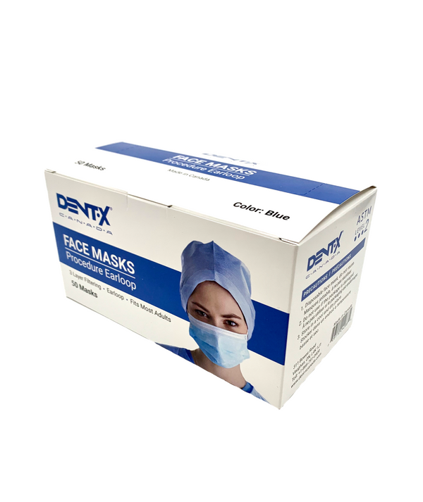 Dent-X 3-Ply Surgical Mask ASTM Level 2 - Box of 50
