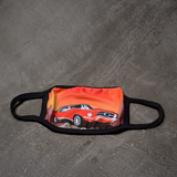 Printed Design Washable Reusable Mask - Car