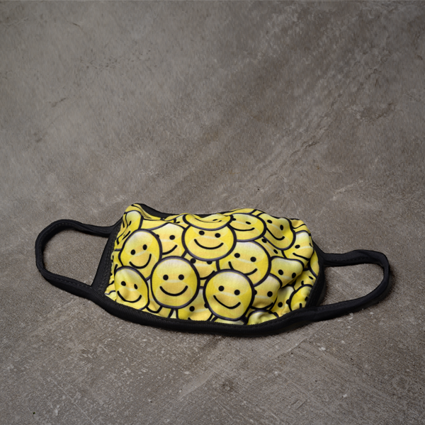 Printed Design Washable Reusable Mask - Smiley Face