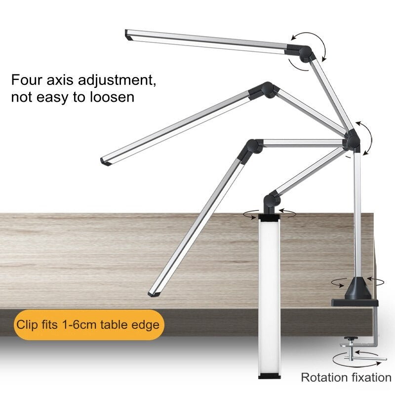 Desk lamp Four axis adjustment not easy to loosen