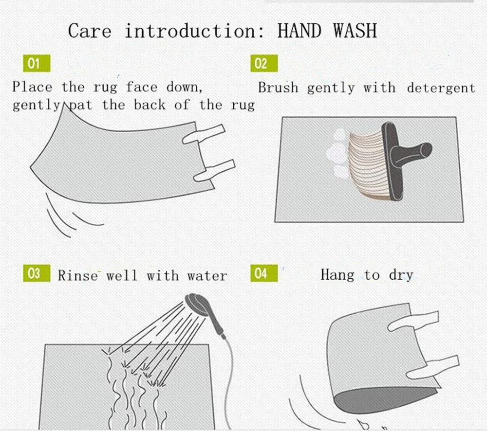 Kids Rug Care introduction-HAND WASH