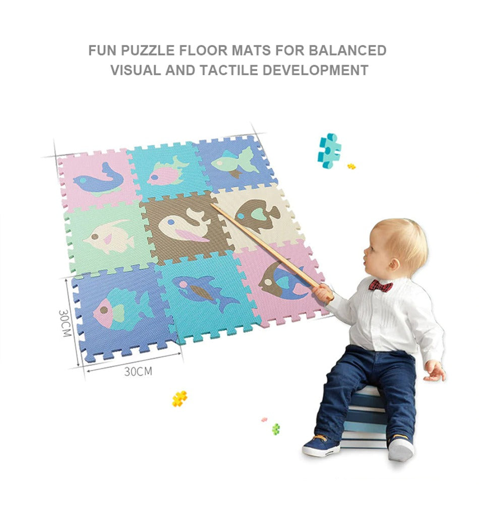Kids Rug Model Puzzle Didactic Learning