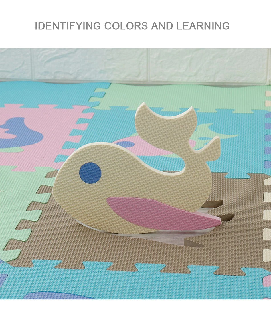Kids Rugs Identifying part in the puzzle carpet and learning