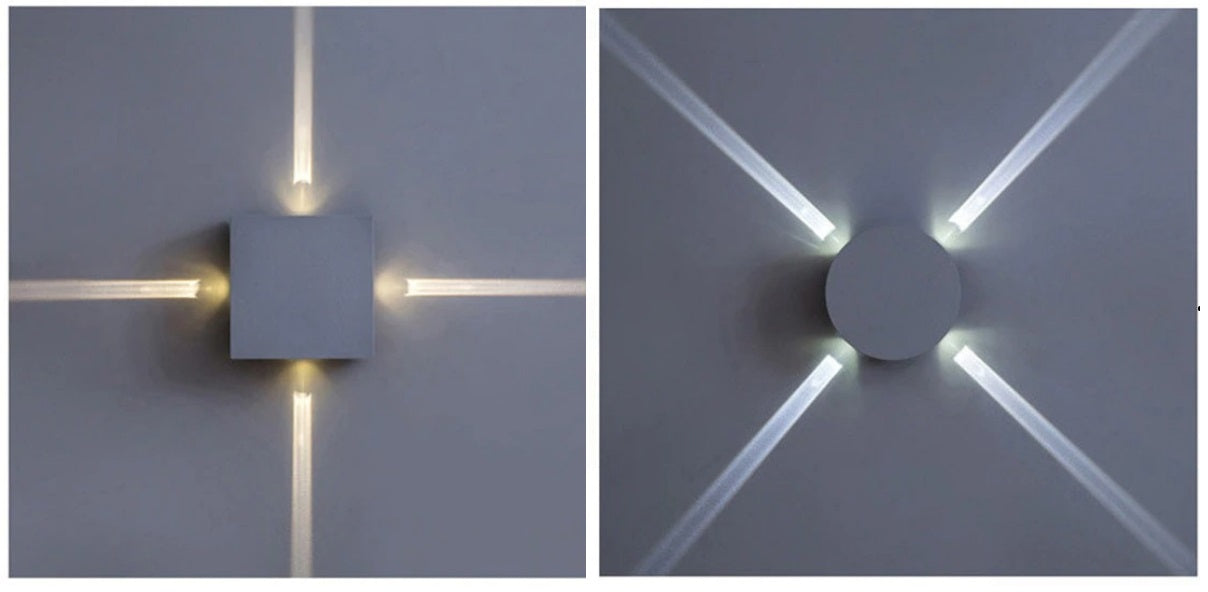 Outdoor wall light circle and square models