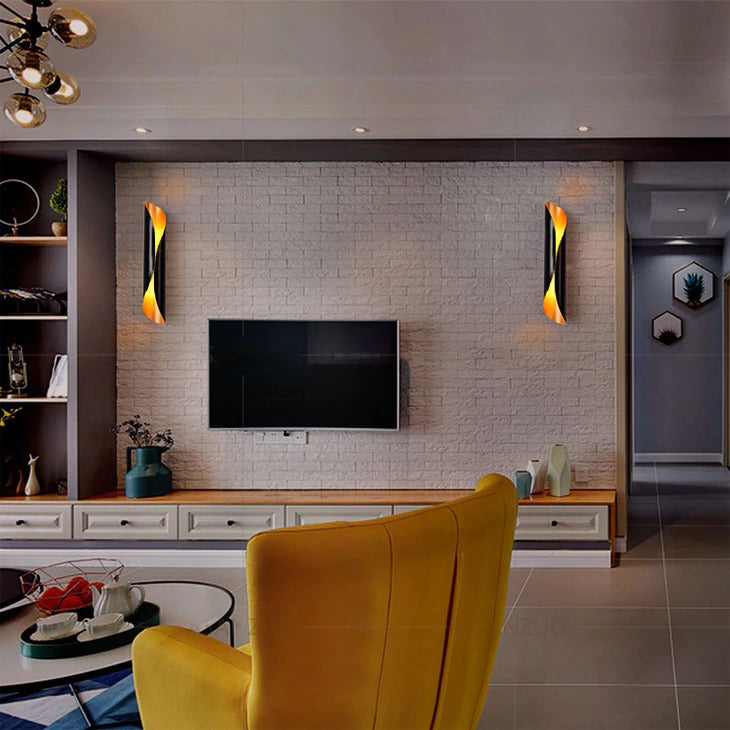 Sconce For The Wall black model livin room