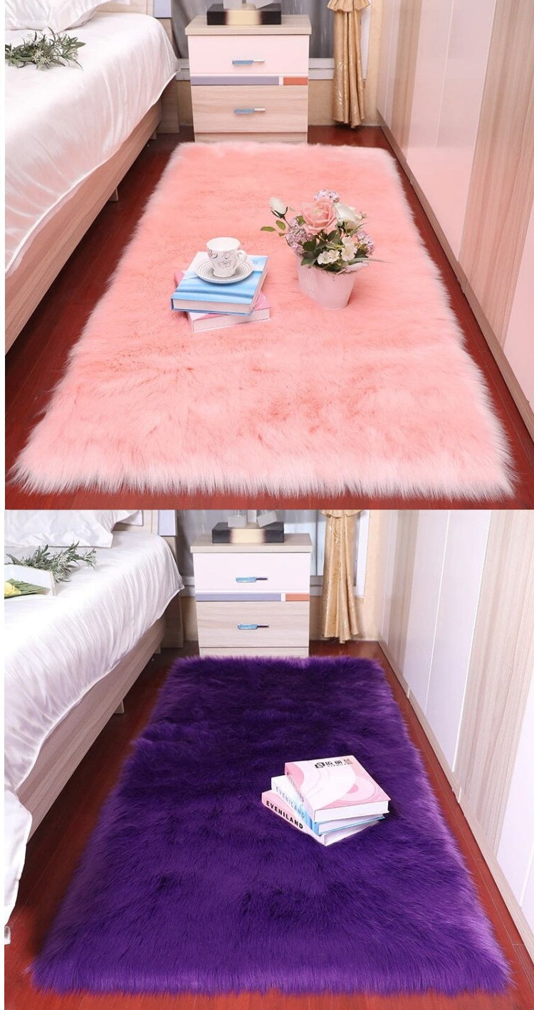 Shaggy Rug Pink and Purple models