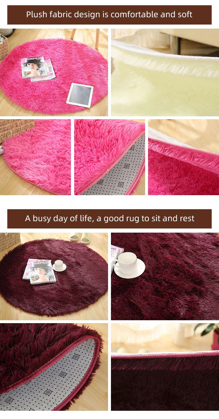 Soft_rug_for_decoration_pink and brown model