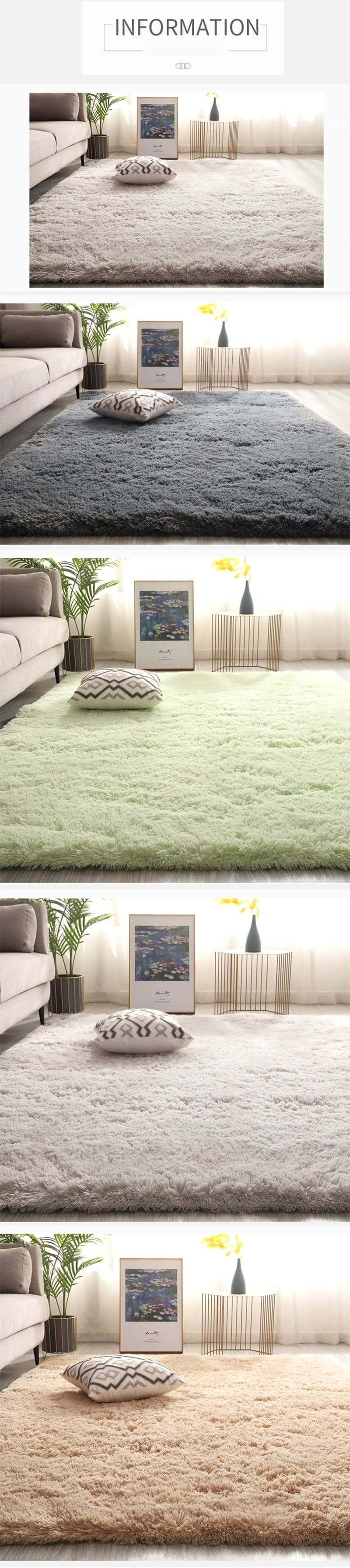 Rug available in different colors: blue, gray, green