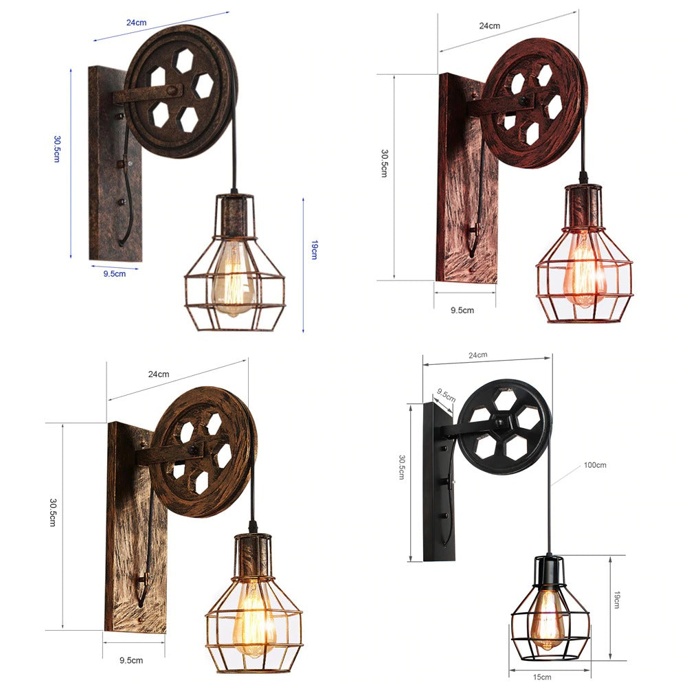 Wall lamp product measurements