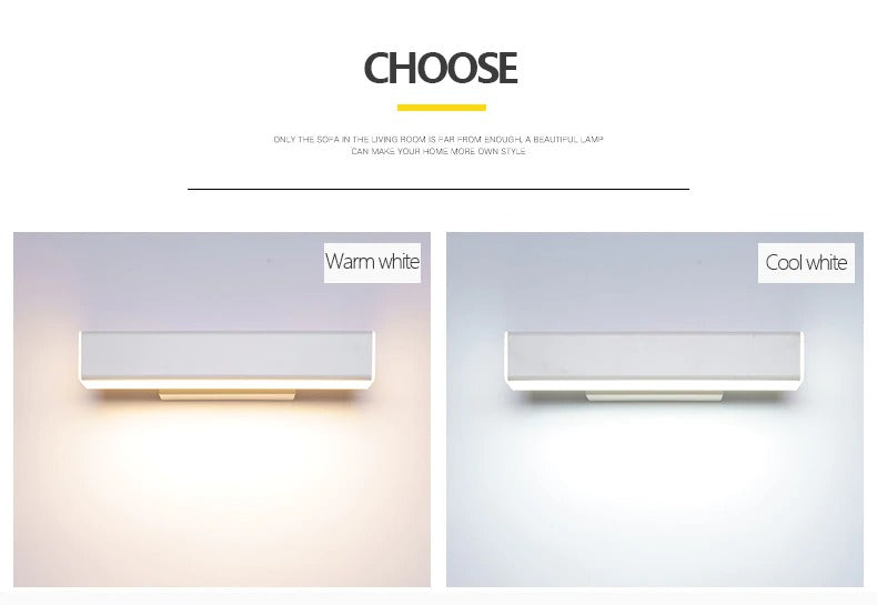 Wall light lamp features