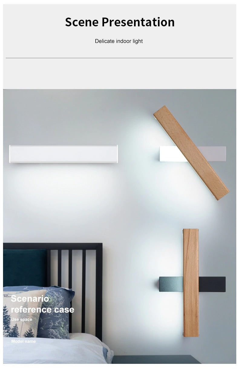 Wall light lamp in the bedroom