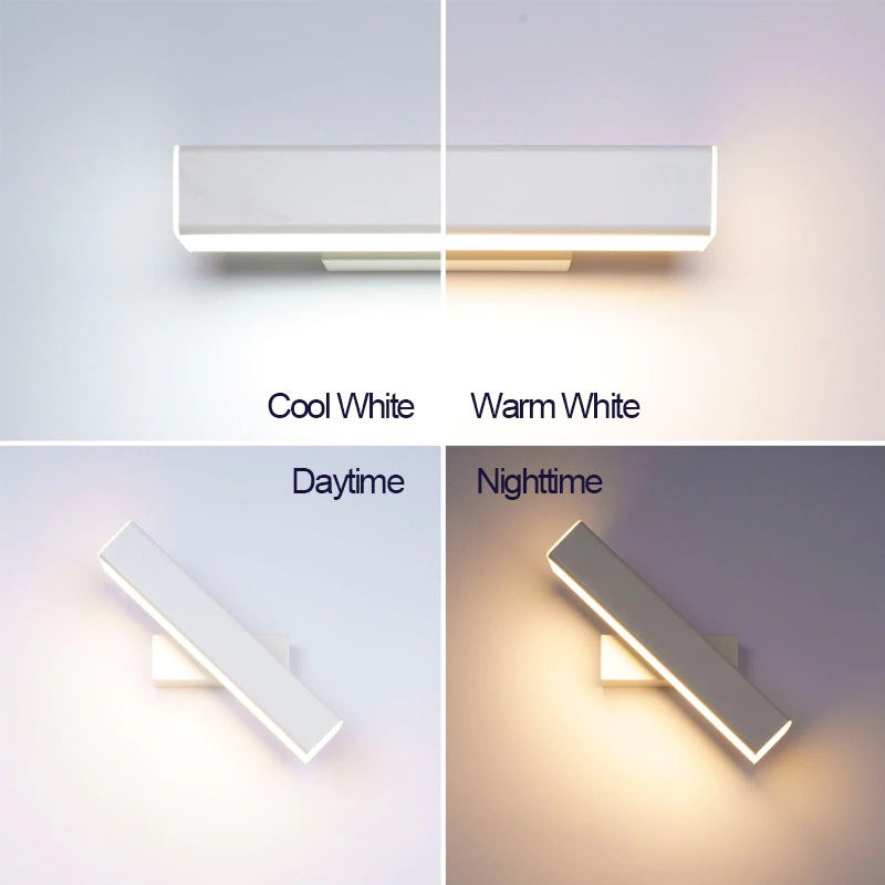 Wall light lamp white and black