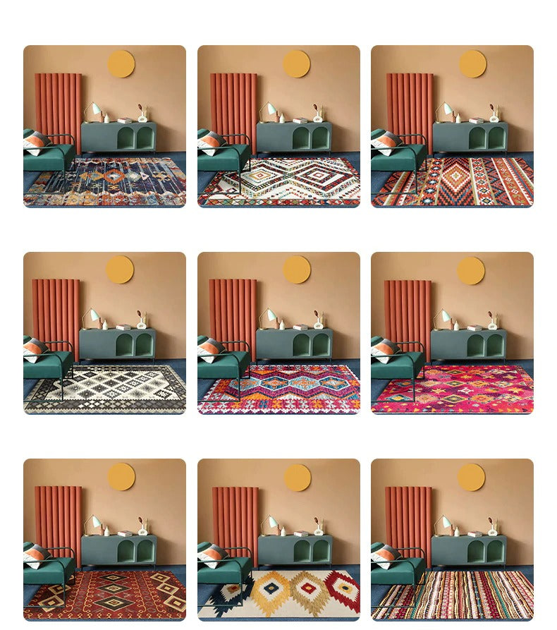 Vintage rugs models with geometric figures