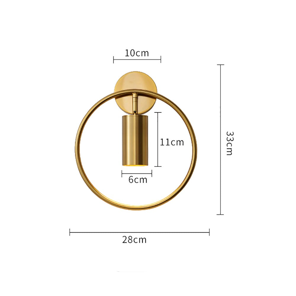 sconces for the wall Bronze Model Measurent
