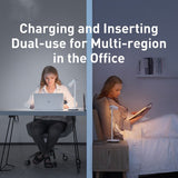 desk lamp charging and inserting dual-use for multi-region in the office