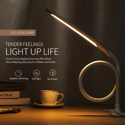 Desk lamp product tender feelings light up life, 3 level colors