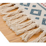 Hand-woven vintage rug, made of cotton and linen
