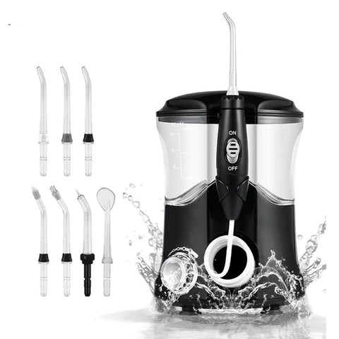 Oral Irrigator with 600 ml large capacity tank. 7 power modes