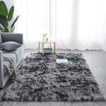 fluffy gray pattern modern rug