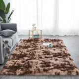 fluffy brown rug