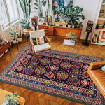 vintage handmade rug model 9 with geometric patterns