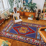vintage handmade rug model 11 with geometric patterns